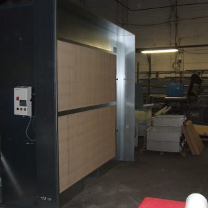 Cabine de peinture ouverte (cabine de peinture industrielle)