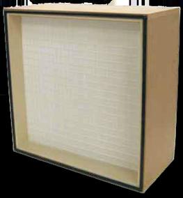 Filtre HEPA cadre en bois E11, E12, H13, H14