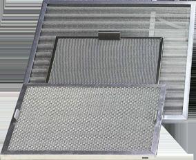Filtre tricot métallique Inox, galva, aluminium G2 à G4.